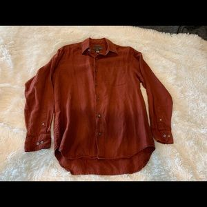 J Crew Red Button-down M